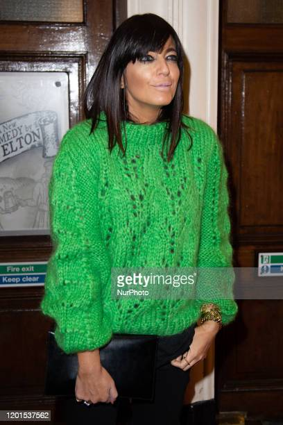 Claudia Winkleman attends Press Night of The Upstart Crow at the GIELGUD THEATRE, SHAFTESBURY AVE 17 February 2020 in London, England.