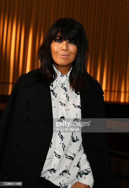 Claudia Winkleman attends the Emilia Wickstead front row during London Fashion Week February 2020 at the Royal Academy of Artson February 16, 2020 in...