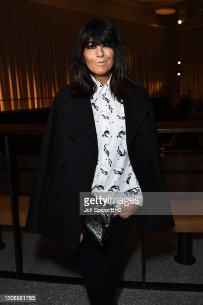 Claudia Winkleman attends the Emilia Wickstead Show during London Fashion Week February 2020 on February 16, 2020 in London, England.