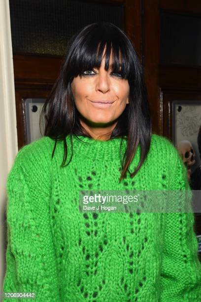 Claudia Winkleman attends the Upstart Crow press night at the Gielgud Theatre on February 17, 2020 in London, England.