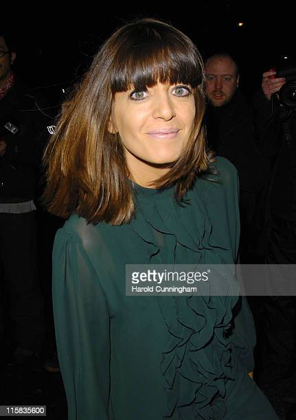 Claudia Winkleman during Finch Partners PreBAFTA Party Arrivals at Annabel's in London Great Britain