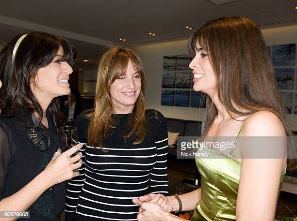 Claudia Winkleman Emily Oppenheimer and Lisa B attend the Lisa B book launch party held at the InterContinental Hotel on April 10 2008 in London...