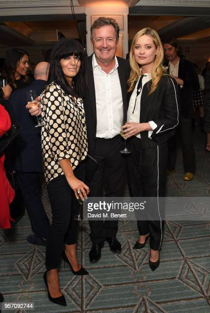 Claudia Winkleman Piers Morgan and Laura Whitmore attend the Fortnum Mason Food and Drink Awards on May 10 2018 in London England