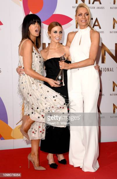 Claudia Winkleman Stacey Dooley and Tess Daly with the award for Talent Show for Strictly Come Dancing during the National Television Awards held at...