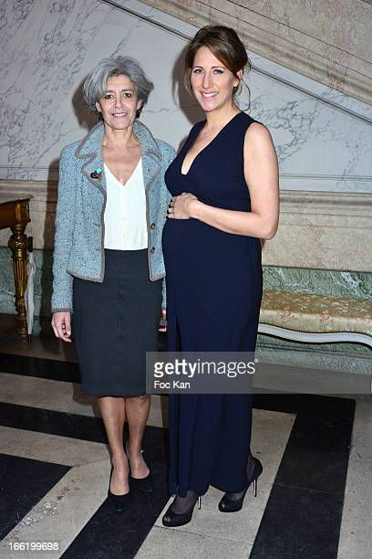 Claudie Haignere and Maud Fontenoy attend the Maud Fontenoy Foundation Annual Gala Arrivals at Hotel de la Marine on April 9 2013 in Paris France