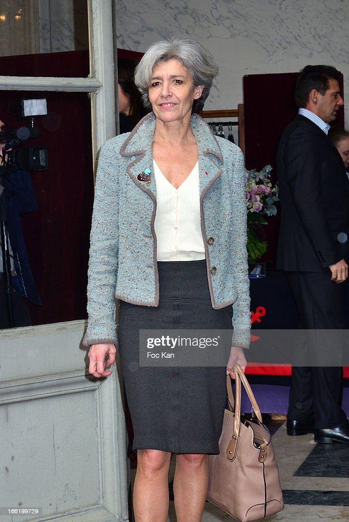 Claudie Haignere attends the Maud Fontenoy Foundation - Annual Gala Arrivals at Hotel de la Marine on April 9, 2013 in Paris, France.