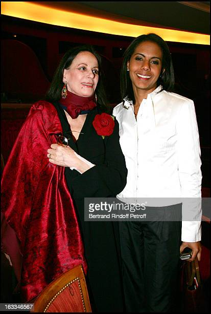 Claudine Auger and Audrey Pulvar at the 12th Gala Performance Musique Contre L' Oubli In Aid Of Amnesty International At Theatre Champs Elysees In...