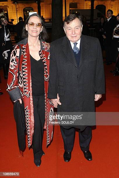 Claudine Auger and her husband in Paris France on November 21 2006