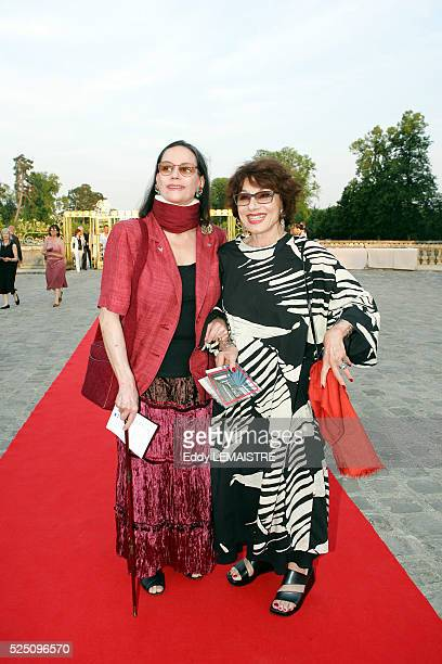 Claudine Auger and Judith Magre attend the 21st Fete du Cinema at Versailles Palace