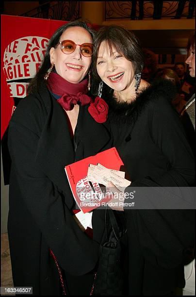 Claudine Auger and Macha Meryl at the 12th Gala Performance Musique Contre L' Oubli In Aid Of Amnesty International At Theatre Champs Elysees In Paris