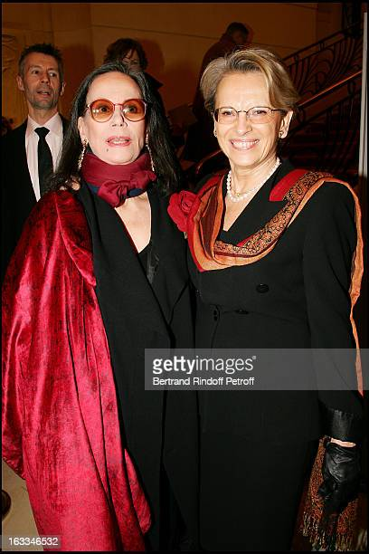 Claudine Auger and Michelle Alliot Marie at the 12th Gala Performance Musique Contre L' Oubli In Aid Of Amnesty International At Theatre Champs...