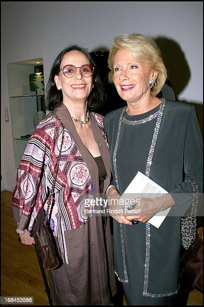 Claudine Auger and Monique Raimond reception at the Hotel Dassault for the publication of the book Pierre Cardin Evolution