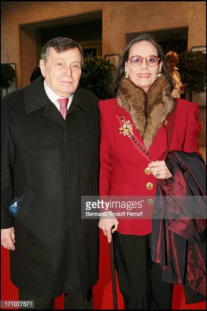 Claudine Auger and Peter Brent Gala Musique Contre L'Oubli of international Amnesty at the Champs Elysees theater led by Alexandra Vandernoot