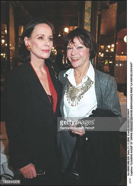 Claudine Auger and 'Sophie Grimaldi' charity dinner for 'La Voix De L'Enfant'