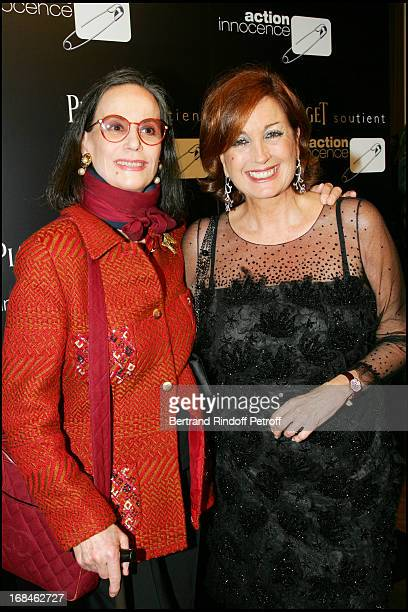 Claudine Auger and Valerie Wertheimer at Party 'Action For Innocence' Supported By The Maison Piaget