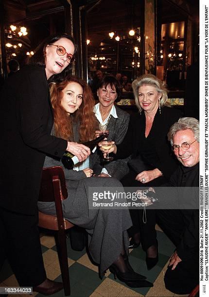 Claudine Auger 'Annie Lore' 'Banon Lelouche' 'Sophie Grimaldi' and 'Pascal Morabito' charity dinner for 'La Voix De L'Enfant'