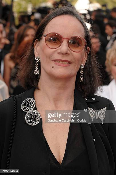 Claudine Auger attends the premiere of Up during 62nd Cannes Film Festival