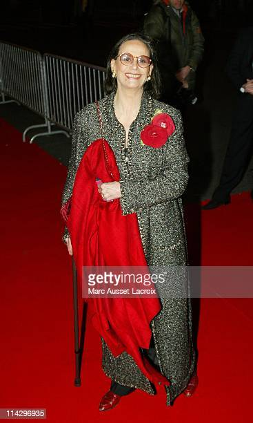 Claudine Auger during 32nd Cesar Awards Ceremony Arrivals at Theatre du Chatelet in Paris France