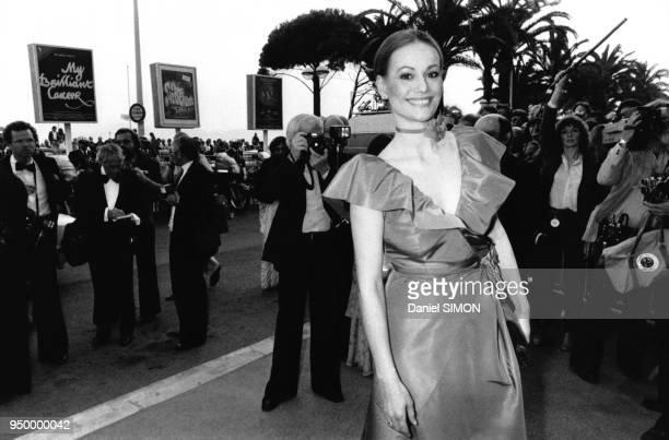 Claudine Auger lors de la présentation du film Hair réalisé par Milos Forman qui ouvre le 32ème Festival International du Film de Cannes le 10 mai...