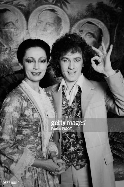 Claudine Coster et JeanLuc Moreau à la 1ère de 'Barnum' à Paris le 26 mars 1981 France