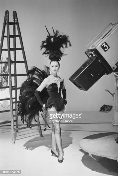 Claudine Coster lors de l'enregistrement d'un show télévisé à Paris France le 4 avril 1967