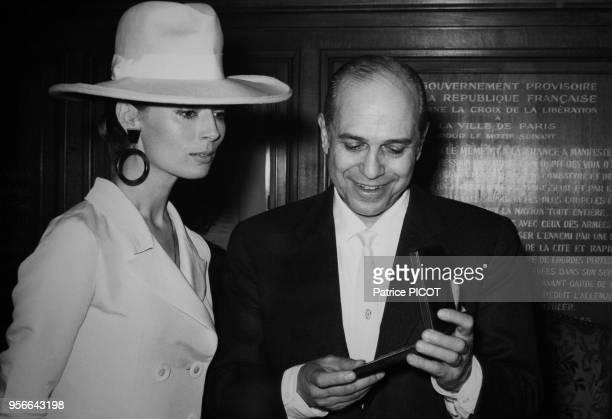 Claudine Coster son mari Robet Manuel à Paris le 10 juin 1970 France