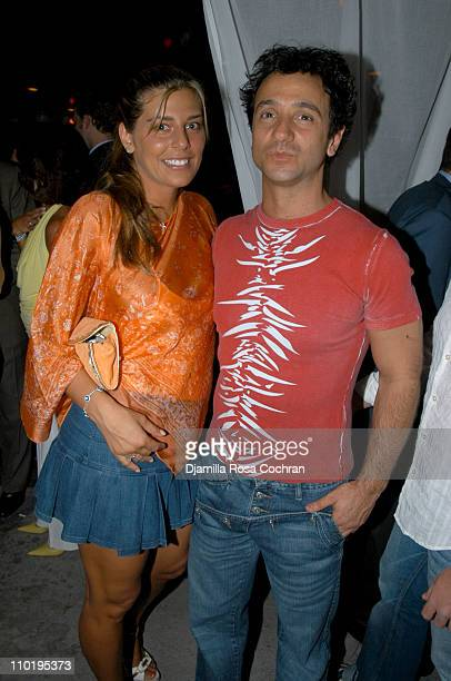 Claudine De Matos and Carlos Miele during Brooke Burke and Mount Gay Rum Launch the Newest Flavors Mango and Vanilla at The Maritime Hotel Cabanas in...