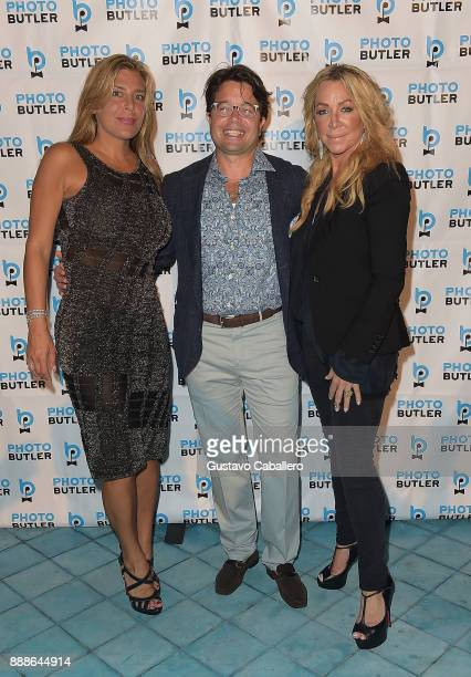 Claudine Deniro Founder Chief Butler of Photo Butler Andy Goldfarb and Anna Rothschild attend Rosario Dawson Hosts The Launch Of Photo Butler At Art...