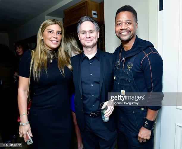 Claudine DeNiro, Jason Binn, and Cuba Gooding Jr. Attend DuJour Media's Jason Binn Celebration of His Birthday In New York City at Cipriani Wall...