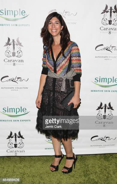 Claudine DeSola of Caravan attends the Simple Skincare Caravan Stylist Studio Fashion Week Event on September 7 2014 in New York City