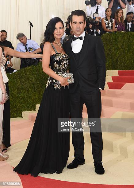 """Claudine Farrell and Colin Farrell attend the """"Manus x Machina: Fashion In An Age Of Technology"""" Costume Institute Gala at Metropolitan Museum of Art..."""