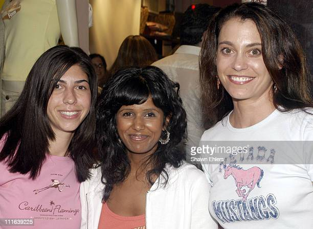 Claudine Gumbel Reshma Patel and Rebecca Herman during Wildlife Works at Cantaloup at Cantaloup in New York City New York United States
