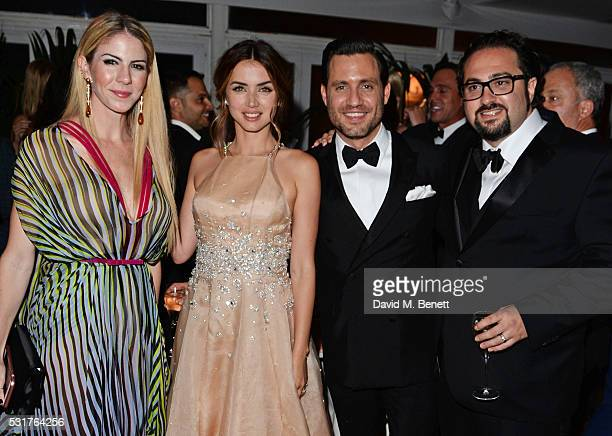 Claudine Jakubowicz Ana de Armas Edgar Ramirez and Jonathan Jakubowicz attend The Weinstein Company's HANDS OF STONE After Party In Partnership With...