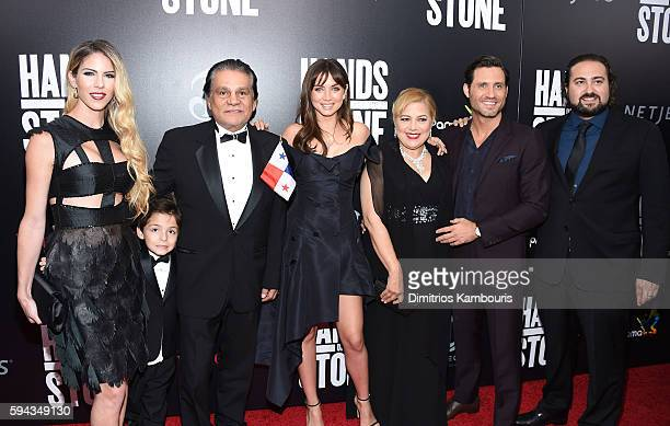 Claudine Jakubowicz Roberto Duran Ana de Armas Felicidad Duran Edgar Ramirez and Jonathan Jakubowicz attend the 'Hands Of Stone' US premiere at SVA...