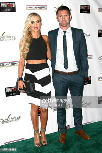 Claudine Keane and Robbie Keane attend the USIreland alliance preAcademy Awards event held at Bad Robot on February 27 2014 in Santa Monica California