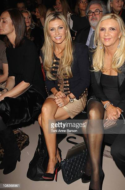 Claudine Keane attends the Elie Saab show as part of the Paris Haute Couture Fashion Week Spring/Summer 2011 at Palais de Chaillot on January 26 2011...
