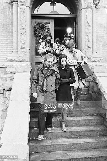 Claudine Longet and Andy Williams Aspen Colorado Singer Andy Williams escorts Claudine Longet down the stairs of Aspen's courthouse here January 3...