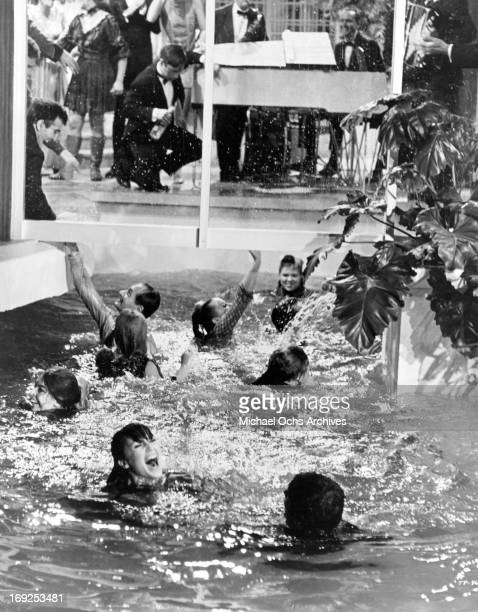 Claudine Longet and others swim in a scene from the film 'The Party' 1968 Photo by United Artists/Getty Images