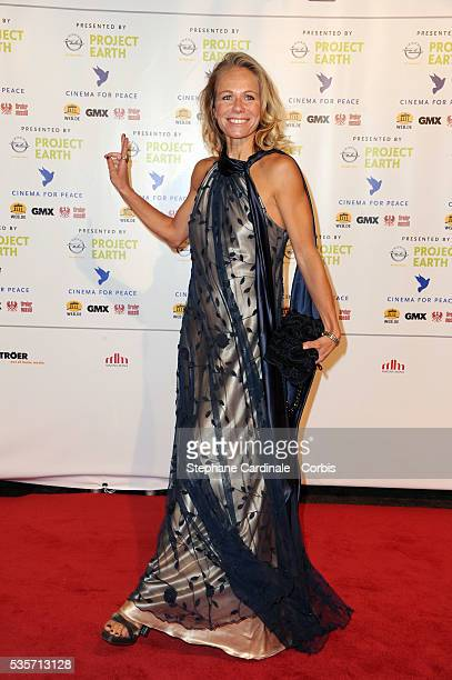 Claudine Wilde attends the Cinema for Peace Gala at the Konzerthaus Am Gendarmenmark during the 61st Berlin International Film Festival