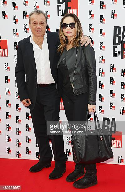 Claudio Amendola and Francesca Neri attend the closing ceremony red carpet of the BAFF on April 5 2014 in Busto Arsizio Italy