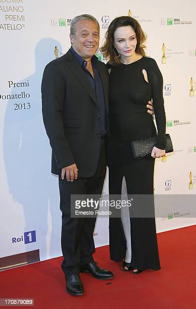 Claudio Amendola and Francesca Neri attend the David di Donatello Ceremony Awards at Dear on June 14 2013 in Rome Italy