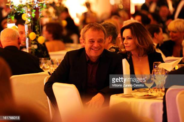 Claudio Amendola and Francesca Neri attend the 'Notte Delle Stelle' during the 63rd Berlinale International Film Festival at the Maritim Hotel on...