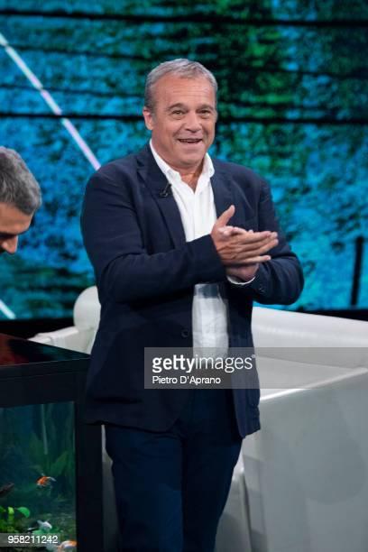 Claudio Amendola attends Che Tempo Che Fa tv show on May 13 2018 in Milan Italy