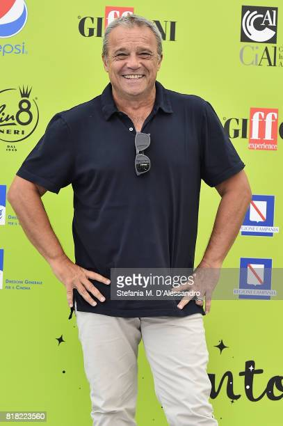 Claudio Amendola attends Giffoni Film Festival 2017 Day 5 Photocall on July 18 2017 in Giffoni Valle Piana Italy