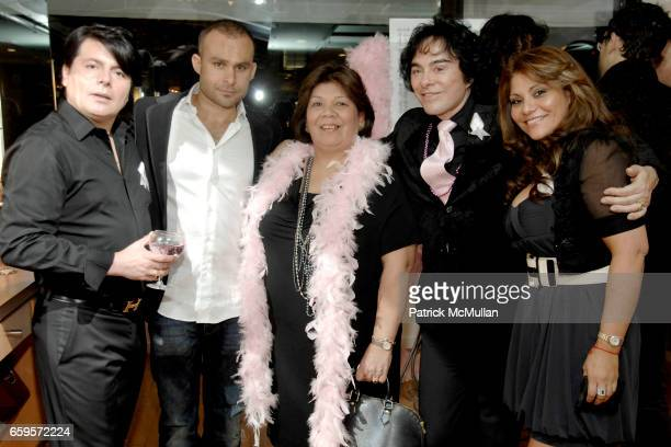 "Claudio B guest, Eyup Akyup, Marrisa Satiseban, George Perez and Eva Martinez attend Sofia's ""Hair for Health"" Annual Party at the Rodolfo Valentin..."