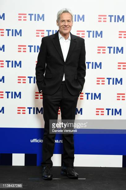 Claudio Baglioni attends a photocall on the last day of the 69 Sanremo Music Festival at Teatro Ariston on February 09 2019 in Sanremo Italy