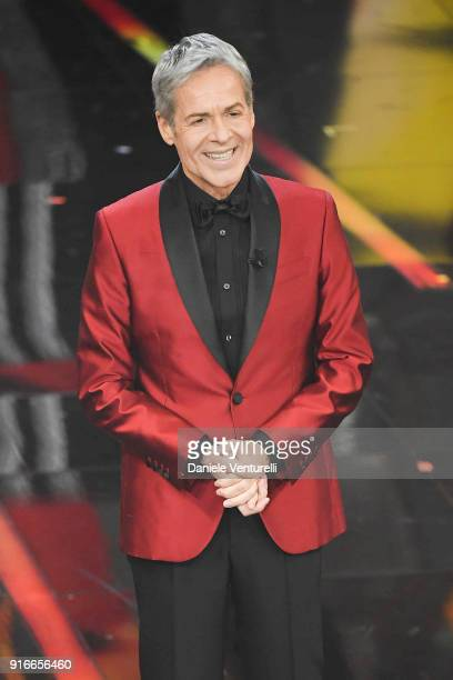 Claudio Baglioni attends the closing night of the 68 Sanremo Music Festival on February 10 2018 in Sanremo Italy