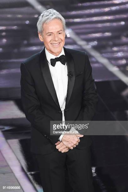 Claudio Baglioni attends the first night of the 68. Sanremo Music Festival on February 6, 2018 in Sanremo, Italy.