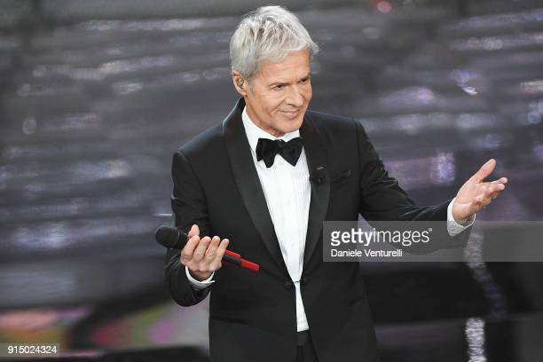 Claudio Baglioni attends the first night of the 68 Sanremo Music Festival on February 6 2018 in Sanremo Italy