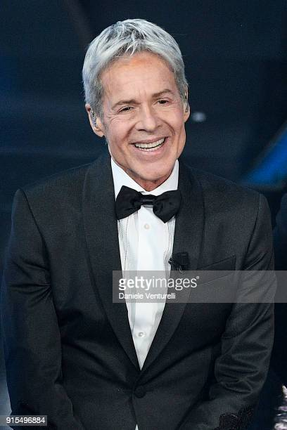 Claudio Baglioni attends the second night of the 68 Sanremo Music Festival on February 7 2018 in Sanremo Italy